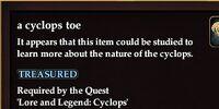 A cyclops toe