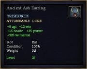Ancient Ash Earring