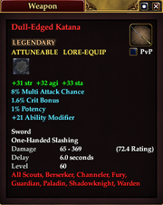 Dull-Edged Katana