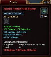 Martial Reptile Hide Bracers