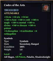 Codex of the Arts