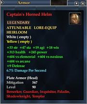 Captain's Horned Helm