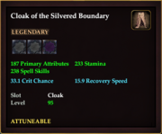 Cloak of the Silvered Boundary