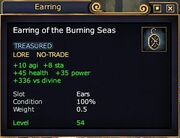 Earring burning seas