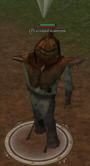 A crazed scarecrow