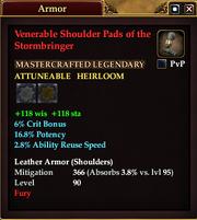 Venerable Shoulder Pads of the Stormbringer