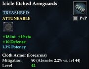 Icicle Etched Armguards