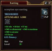 Scorpion eye earring
