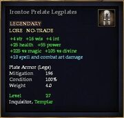 Irontoe Prelate Legplates