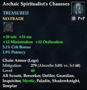Archaic Spiritualist's Chausses