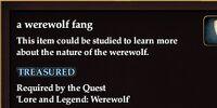 A werewolf fang