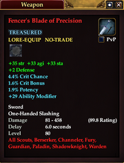 Fencer's Blade of Precision