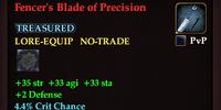 Fencer's Blade of Precision