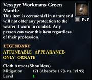 Vesspyr Workmans Green Mantle