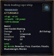 Thick boating rope whip
