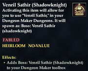 Venril Sathir (Shadowknight)
