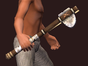 Club of Solid Stone (Equipped)