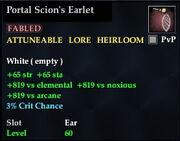 Portal Scion's Earlet