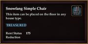 Snowfang Simple Chair