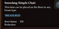 Snowfang Simple Chair