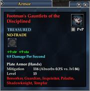 Footman's Gauntlets of the Disciplined