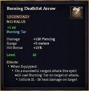Burning Deathfist Arrow