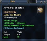 Royal Belt of Battle