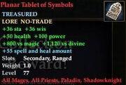 Planar Tablet of Symbols