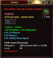 Occultist's Bands of the Citadel