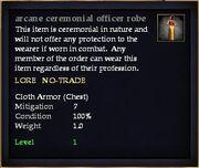 Arcane ceremonial officer robe