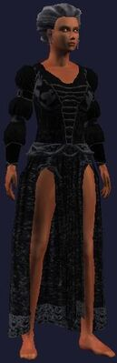 Dark formal outfit (Visible, Female)