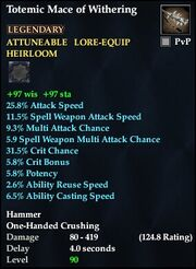 Totemic Mace of Withering