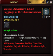 Vicious Advancer's Chain Leggings of the Shadowsneaker