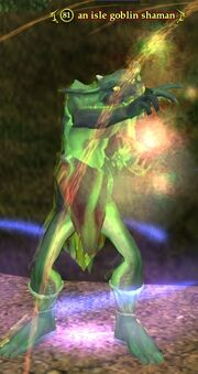An isle goblin shaman