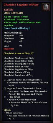 Chaplain's Legplates of Piety