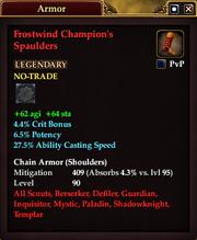 Frostwind Champion's Spaulders