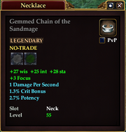 Gemmed Chain of the Sandmage