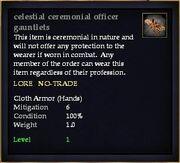 Celestial ceremonial officer gauntlets