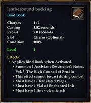 Leatherbound backing