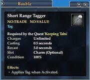 Short Range Tagger