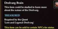 Drolvarg Brain