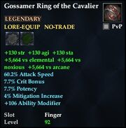 Gossamer Ring of the Cavalier