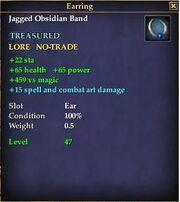 Jagged Obsidian Band