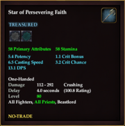 Star of Persevering Faith