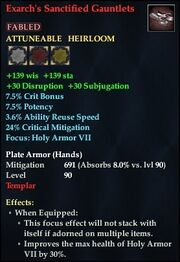 Exarch's Sanctified Gauntlets