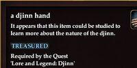 A djinn hand