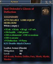 Seal Defender's Gloves of Deflection