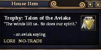 Trophy: Talon of the Aviaks