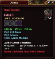 Hero Bracers (Leather)