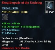 Shoulderpads of the Undying